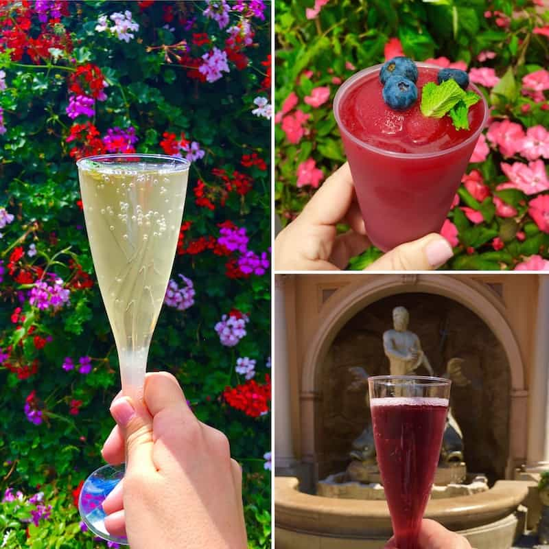 Sip a cocktail while strolling among the flowers at Epcot Flower and Garden Festival.