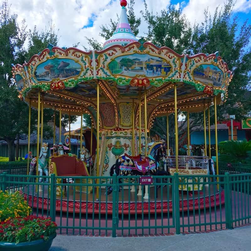 Enjoy the carousel in Disney Springs with kids.