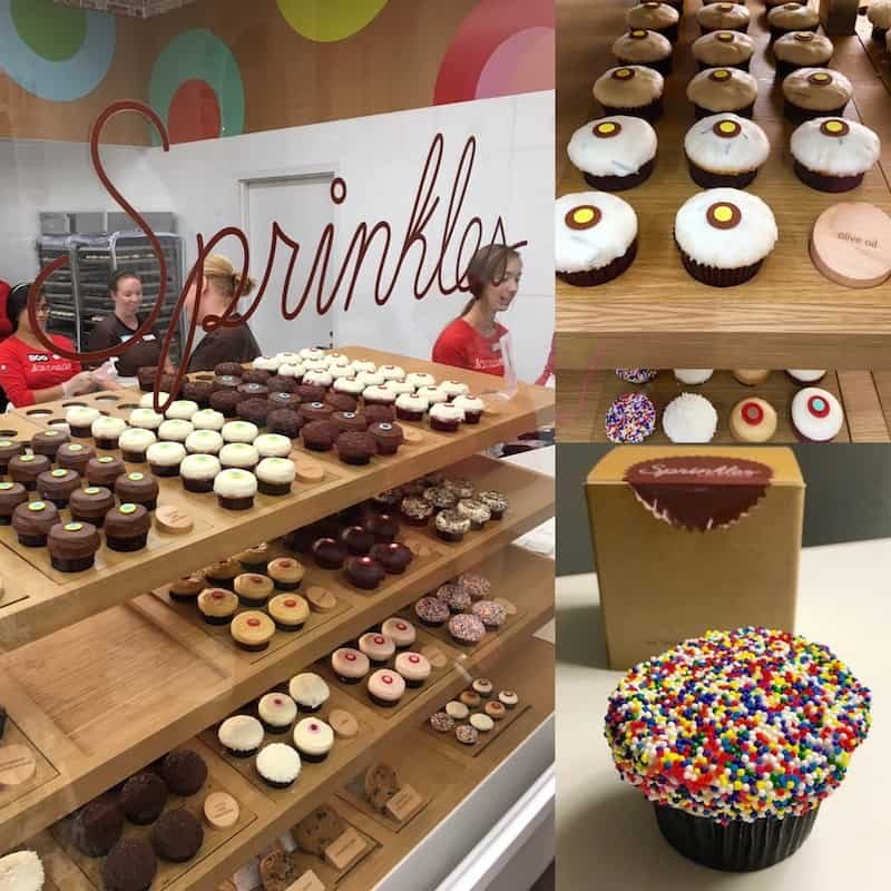 Enjoy cupcakes at Sprinkles in Disney Springs with kids.