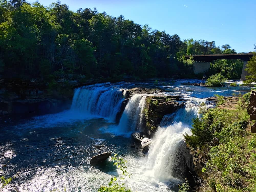 Little River Falls is one of the things to do in Huntsville.