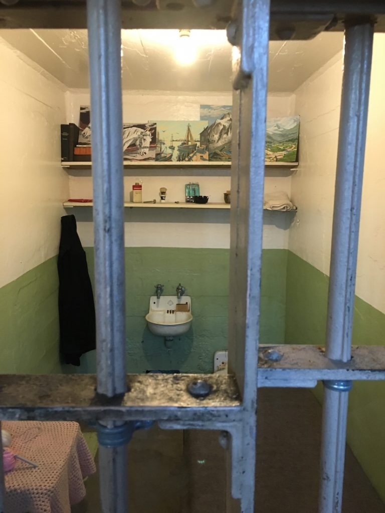 Explore Alcatraz with kids and walk through the cell block.