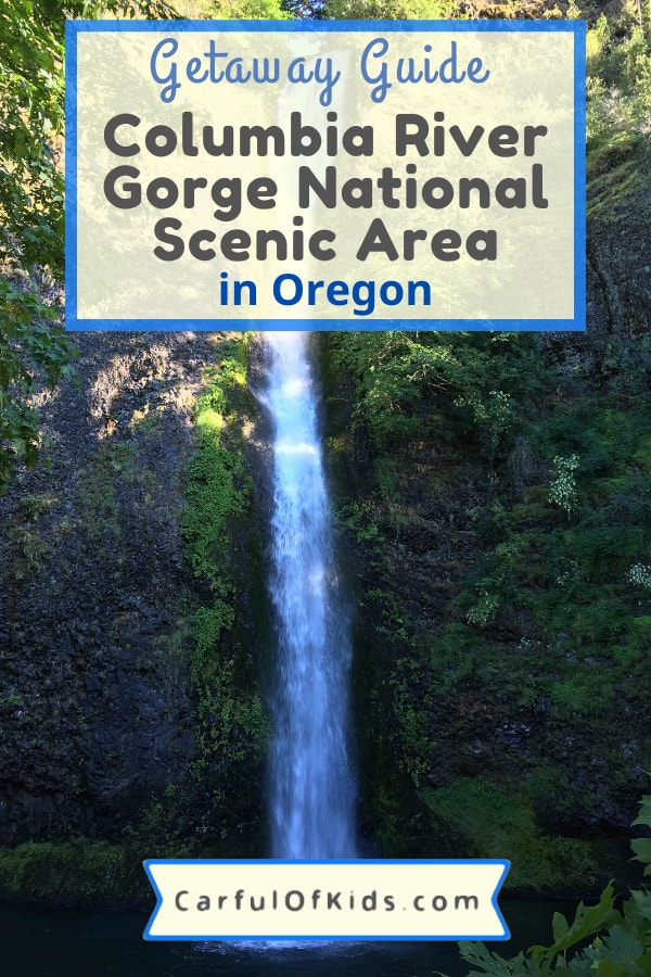 See the best of Oregon in the Columbia River Gorge National Scenic Area. East of Portland, find fruit orchards, Mt. Hood and waterfalls. Use this guide to plan your getaway. #Portland #ColumbiaRiver #MtHood #NPS #NationalParks What to do in Oregon | National Parks sites in Oregon | Waterfalls in Oregon | Day trips from Portland