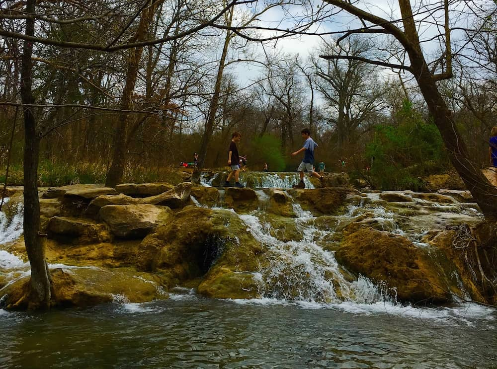 Explore Chicksaw National Recreation Area as what to do with kids in southern Oklahoma