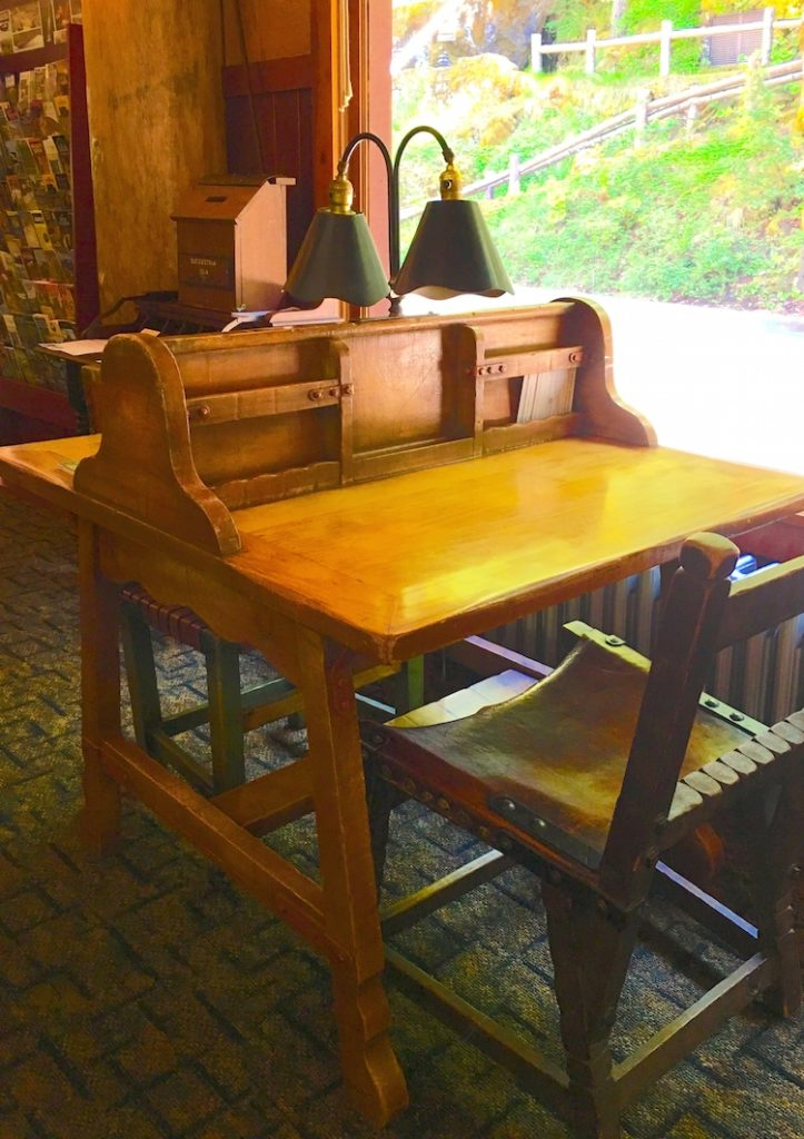 Enjoy the Monterey Furniture antiques at Oregon Caves Chateau with kids.