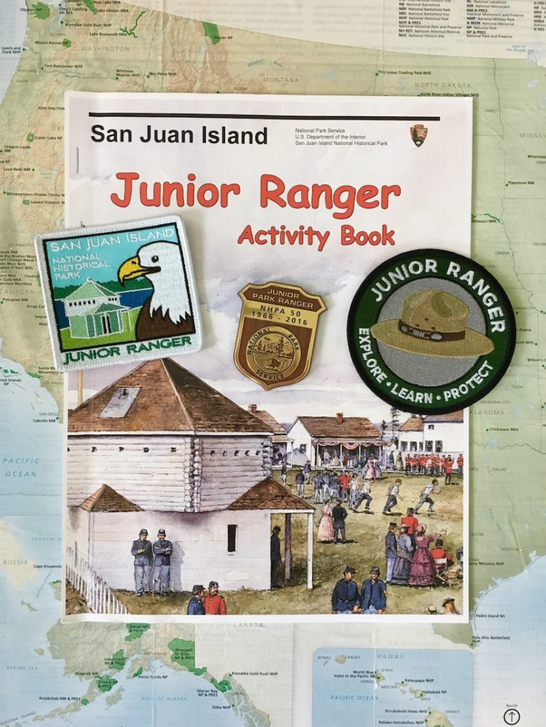 Earn a Junior Ranger patch as one of the things to do on San Juan Island with kids.