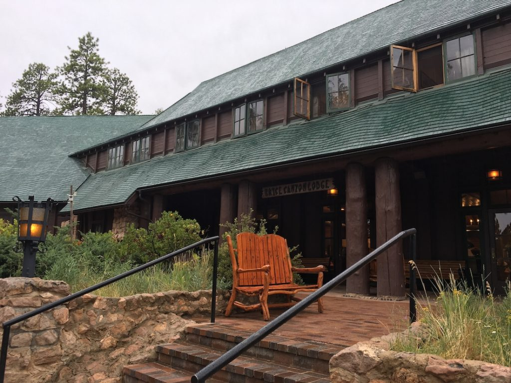 Walk through Bryce Canyon Lodge when you explore Bryce Canyon with kids.