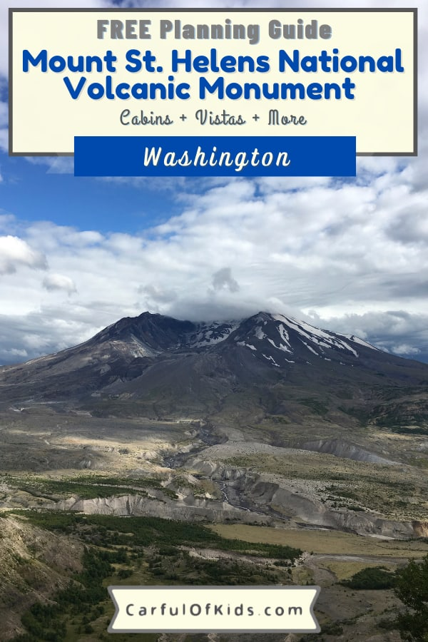 Kids love things that go BOOM! Mount St. Helens in Washington is one of the best known volcanic eruptions in U.S. history. Find out what to see, what to do when visiting Mount St. Helens. Got details for a quaint cabin in the shadow of the volcano. What to do at Mount St. Helens   Where to Stay near Mount St. Helens   National Park sites in Washington #NationalParks #Washington