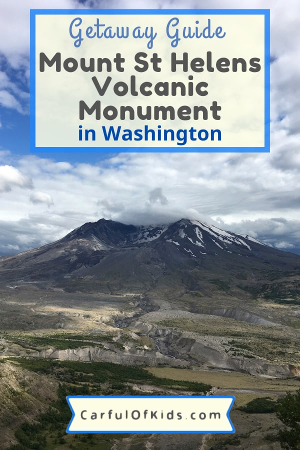 Kids love things that go BOOM! Mount St. Helens in Washington is one of the best known volcanoes in the U.S. Find out what to see, what to do when visiting Mount St. Helens. Got details for a quaint cabin in the shadow of the volcano. #NPS #MountStHelens #NationalParks #Washington What to do at Mount St. Helens | Where to Stay near Mount St. Helens | National Park sites in Washington