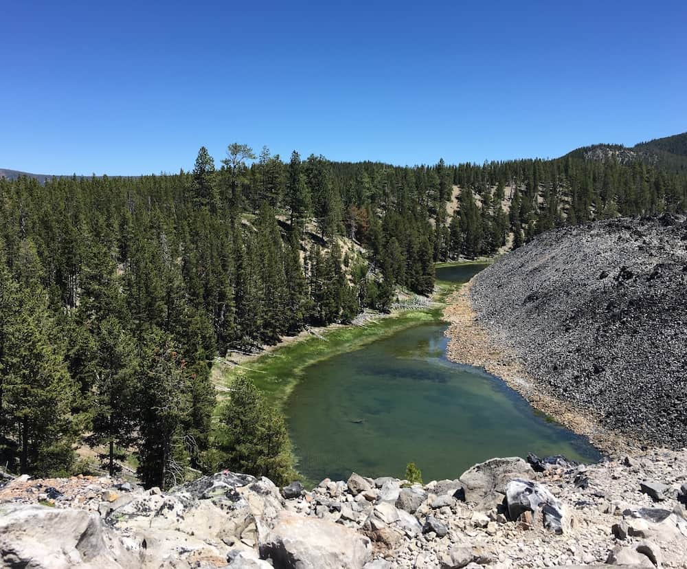 hike the big obsidian flow.