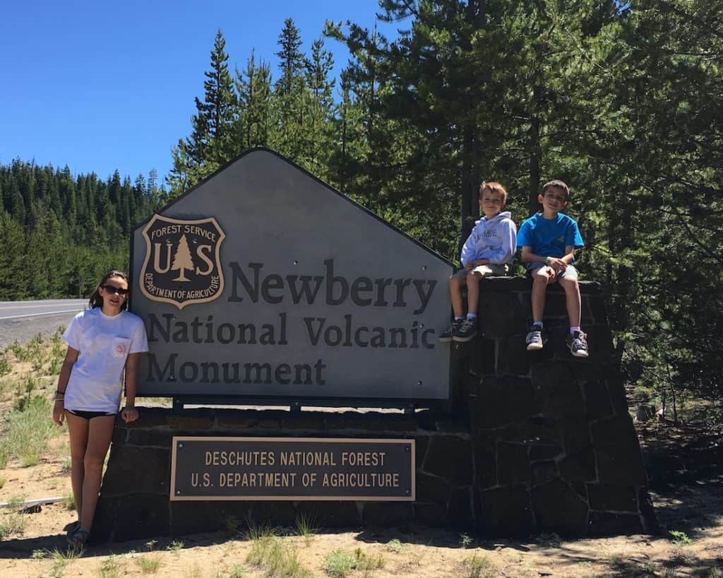 What to do in Bend with kids, walk on a volcano.