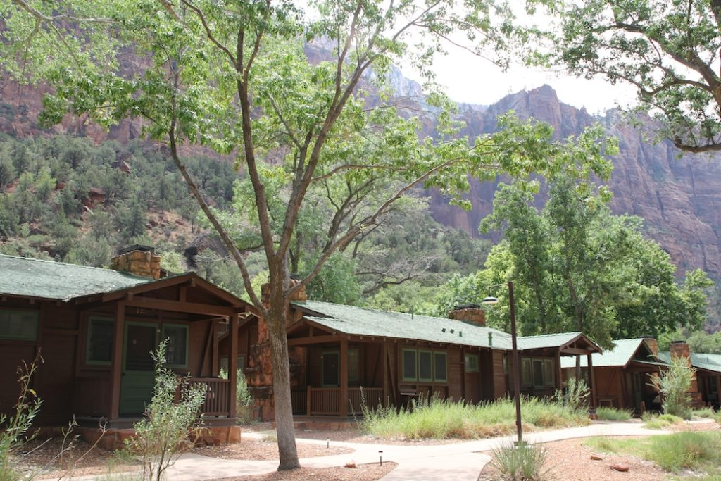 Stay in a cabin in Zion National Park