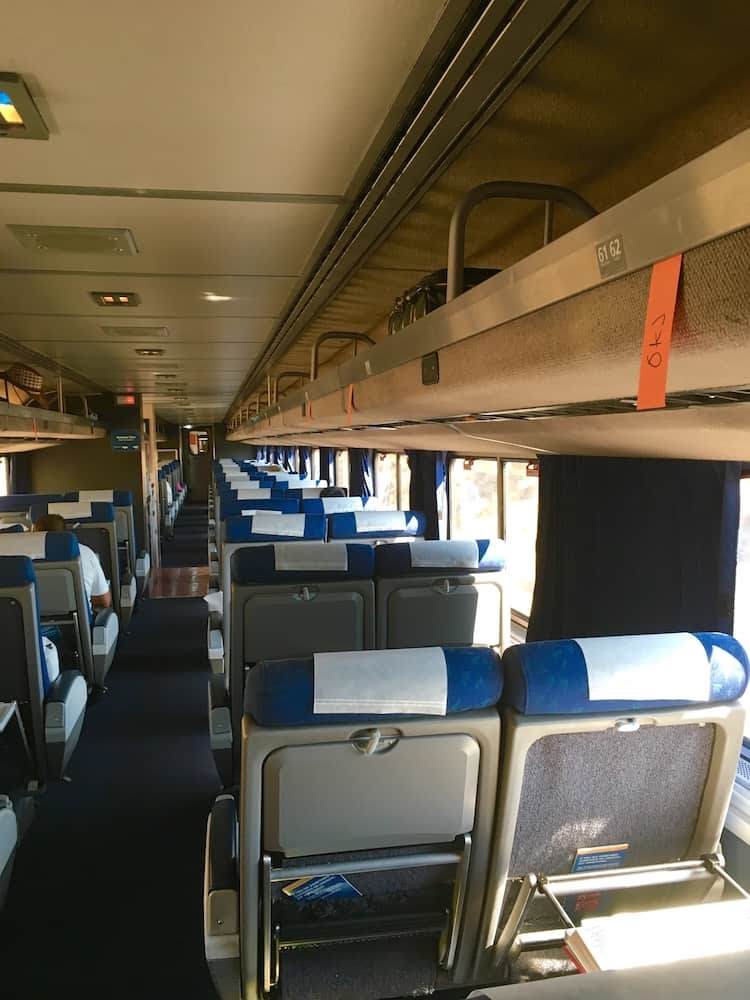 Get a business seat, tips for taking Amtrak in California.