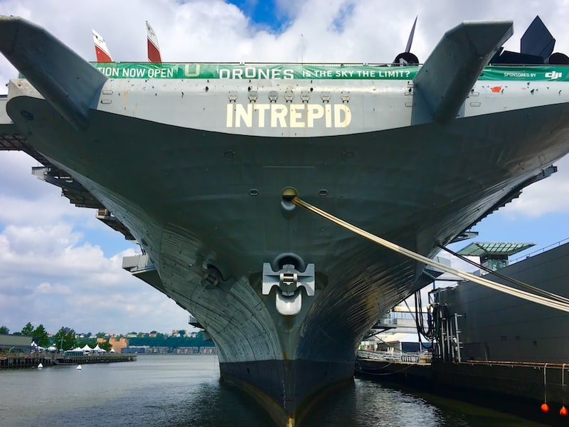 Visit the Intrepid during your 4 day NYC itinerary.
