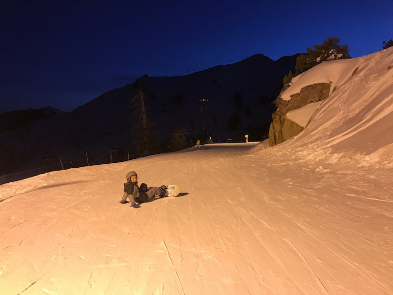 Try night skiing at Squaw Valley, where to take kids skiing in Lake Tahoe