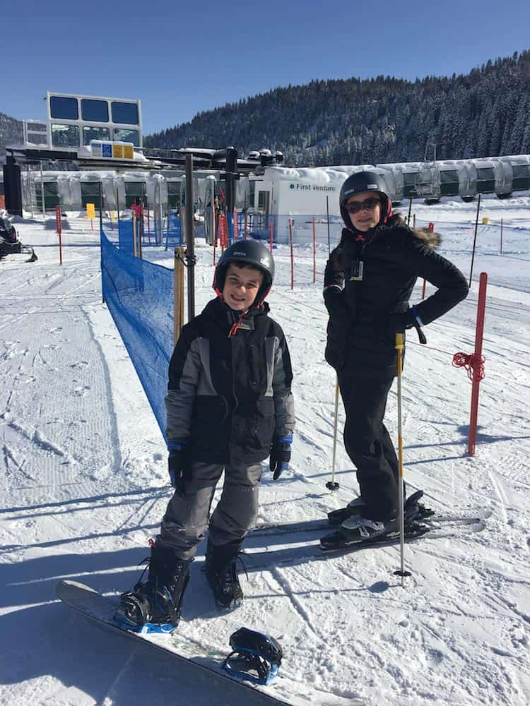 Family Skiing at Squaw Valley where to take kids skiing in Lake Tahoe. How to prep for a family ski trip.
