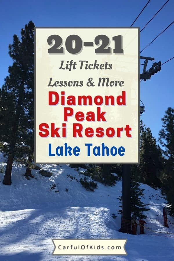 Ski like a local at Diamond Peak Ski Resort in Incline Village, Nevada, at Lake Tahoe. It's open for the 2020-2021 season with availability during peak periods. Find kids lessons for 3 and older. Located on the North Shore so find amazing views of Lake Tahoe too. Get all the details on how to ski in the 2020-2021 season with lift ticket prices and more. Where to go skiing in Lake Tahoe | Resorts in Lake Tahoe #LakeTahoe #Nevada