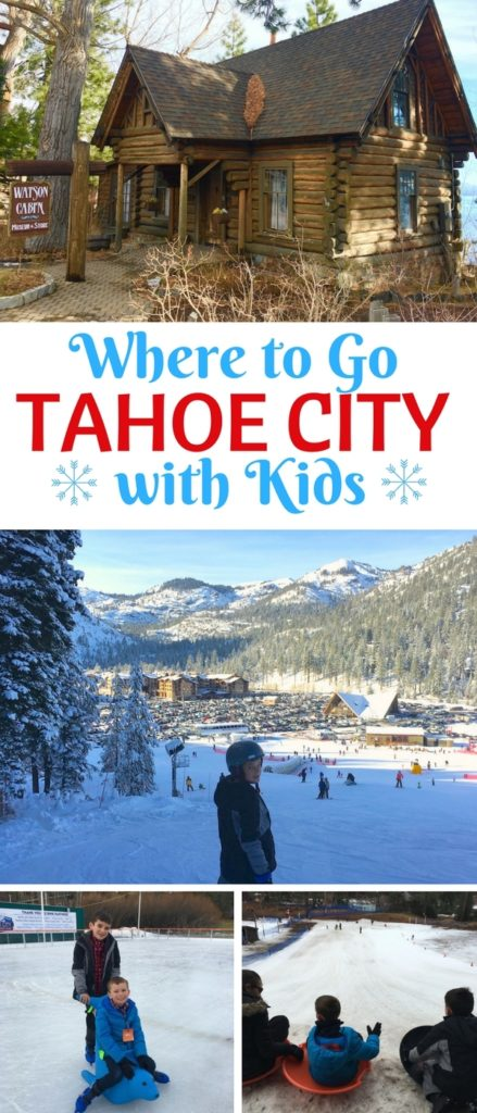 Along the shore of Lake Tahoe, the quaint hamlet of Tahoe City offers families winter fun, minutes from the area's best ski resorts.