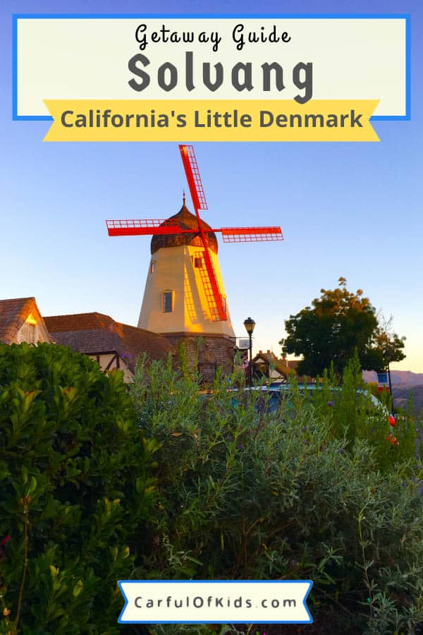 Stroll down the charming streets of Solvang, California, and find traditional bakeries and monuments from the old country--Denmark. Browse for clogs or taste the richness of the local wine and bakeries on your next getaway to the Central California Coast. #California #Solvang #CentralCoast Weekend getaways from Southern California | What to do in Solvang | The little Denmark of California