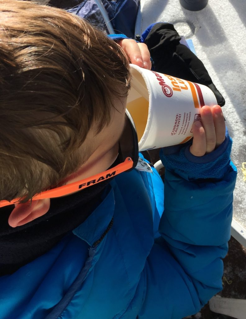 How to prep for a family ski trip with snacks to save money.