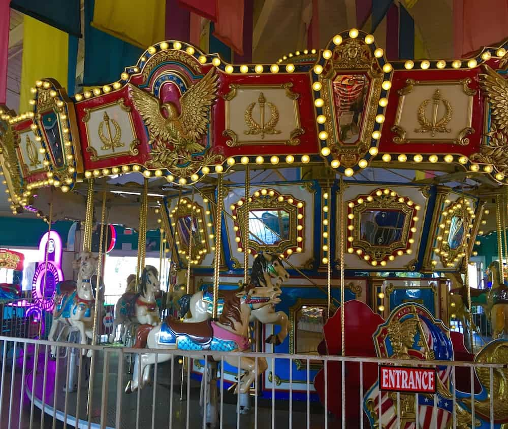 Pelican Pier Carousel, what to do in Long Beach with kids.