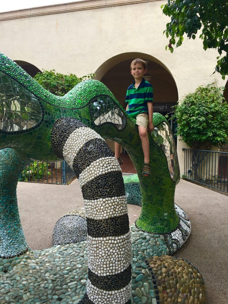 Play in Balboa Park. Where to go in San Diego with kids.