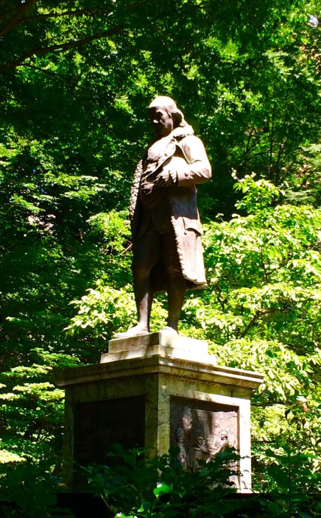 Ben Franklin Statue. See Boson in One Day with kids.