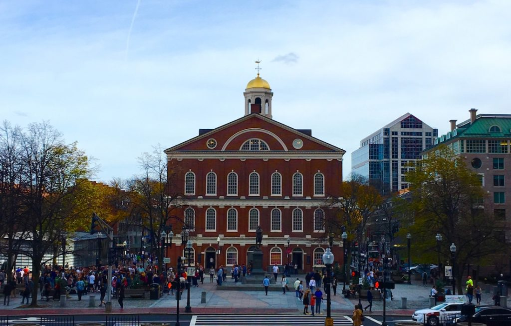 Boston Faneuil Hall. See Boston in One Day with Kids.