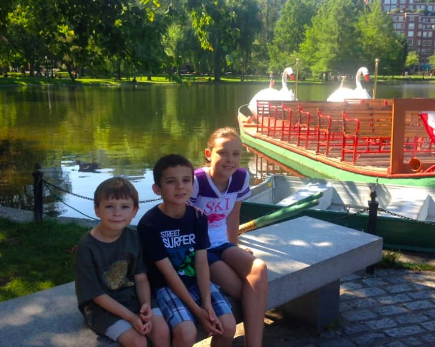 Ride the swam boats. See Boston in One Day with kids.