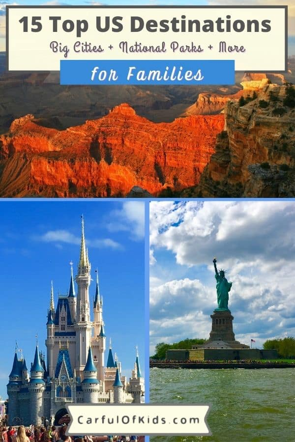 Kids grow up so fast. So take an unforgettable trip before they graduate high school. Here's the best U.S. destinations for families. Got the top 15 places to explore across the U.S. for your family's next trip. Best Trips for Families | Top U.S. Destinations | Where to go in the U.S. with kids #FamilyTravel