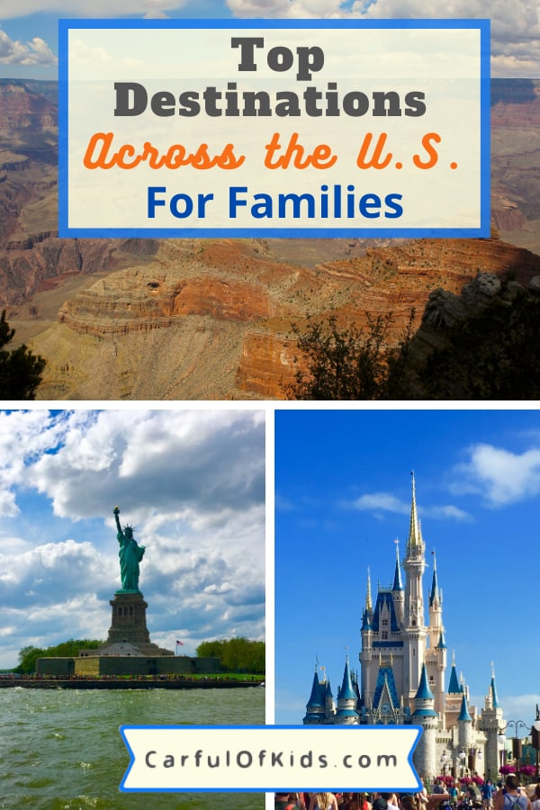 Kids grow up so fast. So take some unforgettable trips before they graduate high school. Here's the best U.S. destinations for families. Got the top 14 places to explore across the U.S. for your family's next trip.  #BestPlacesforFamilies #FamilyTravel #TopUSDestinations Where to go in the U.S. with kids | Top Family Travel Destinations in the U.S.