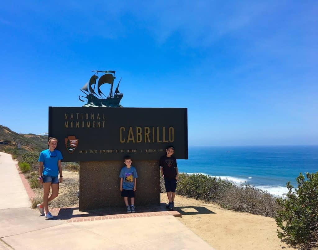 Cabrillo National Monument. Where to go in San Diego with kids.