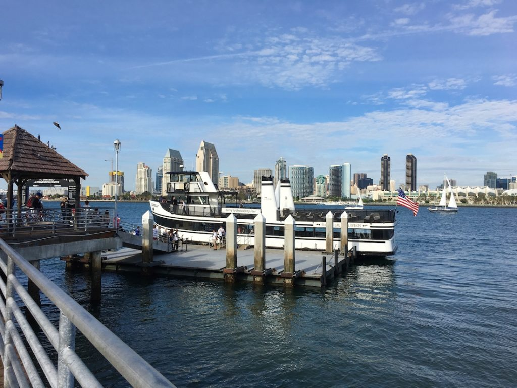 Coronado Ferry. Where to go in San Diego with kids.