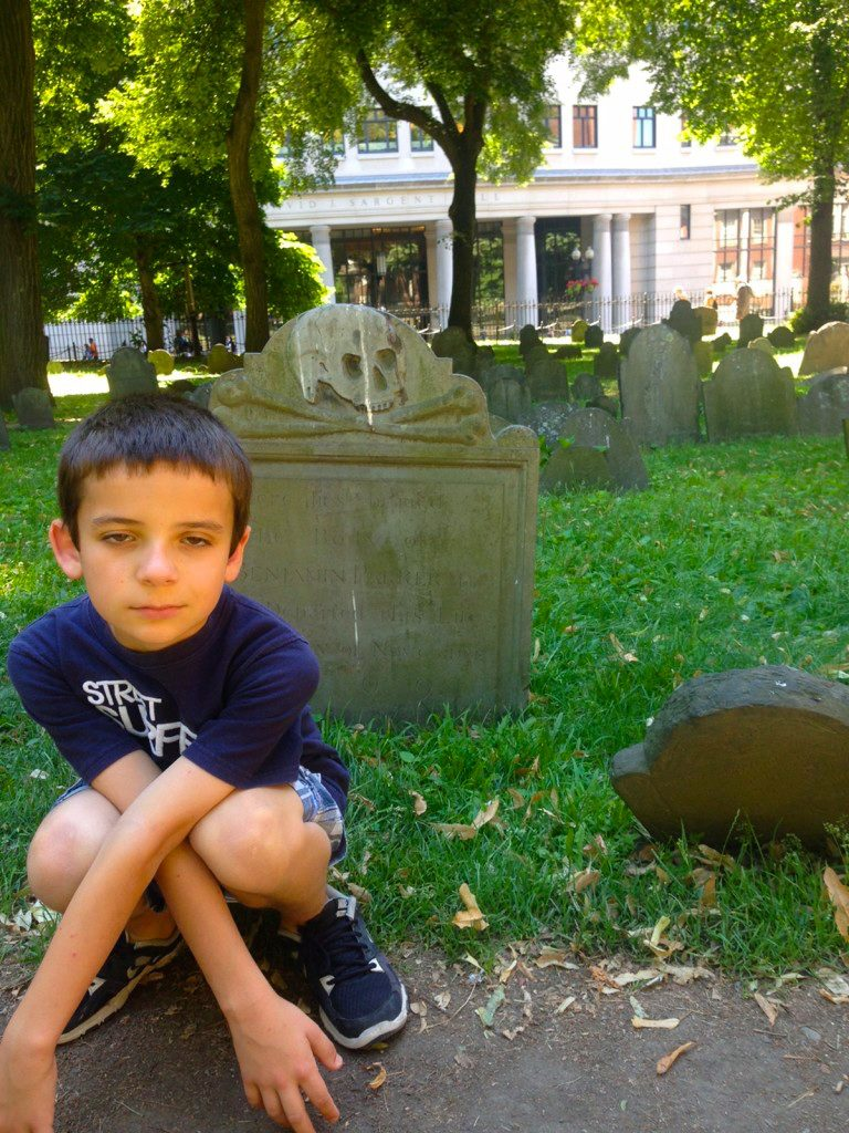 Tour a graveyard. See Boston in One Day with Kids.