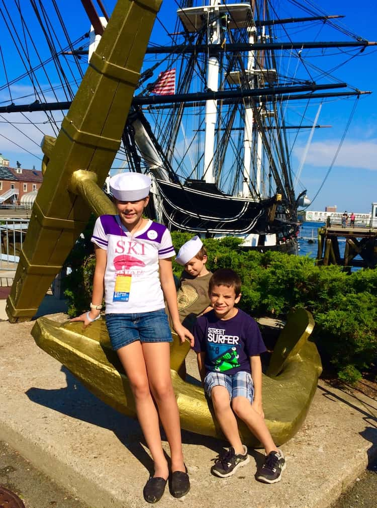 Tour the USS Constitution. See Boston in One Day with kids.