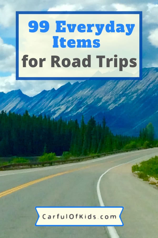 Load up the car and explore the open road across North America. Here's a list of 99+ Everyday Items to Pack for your trip. #RoadTrip #PackingList What you need to Pack for a Road Trip | Packing List for Road Trips