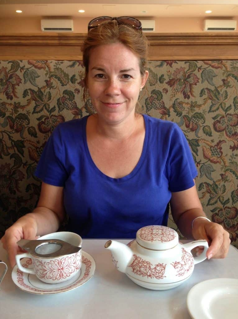 Have a cup of Tea. Anne of Green Gables House with Kids.