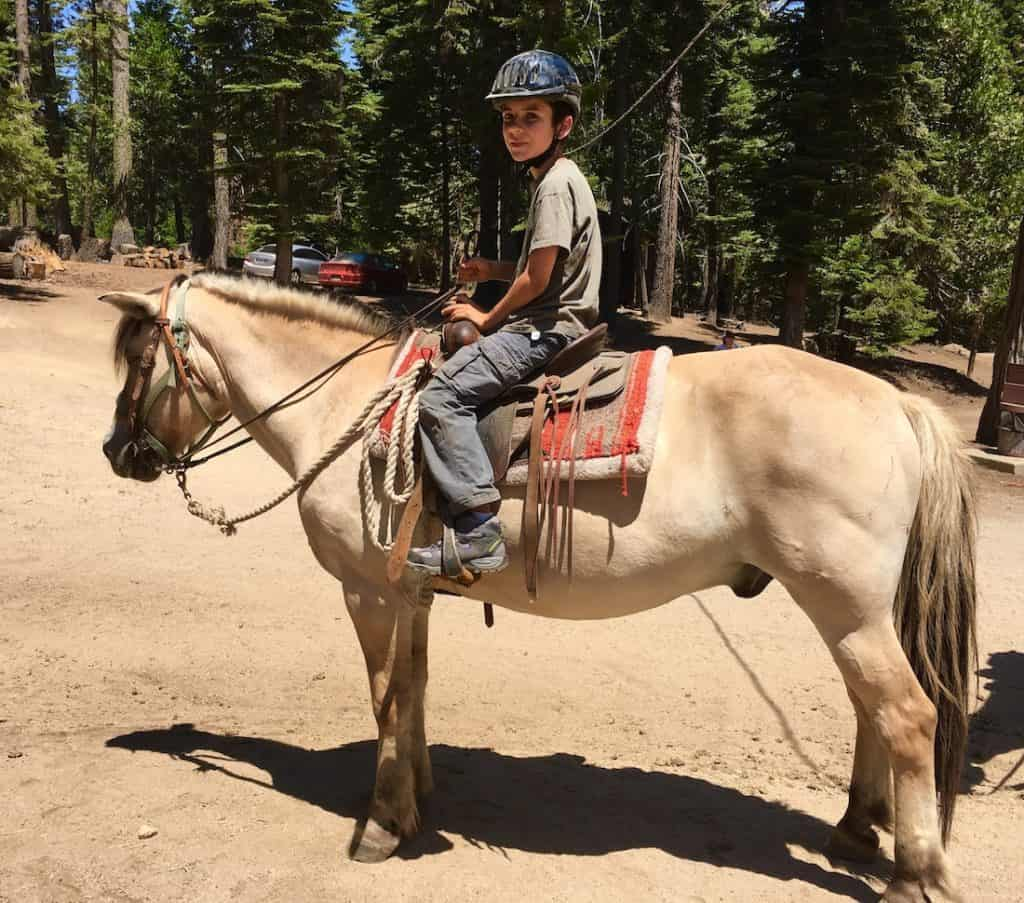 Horseback Riding. Where to see Redwoods in California with kids.