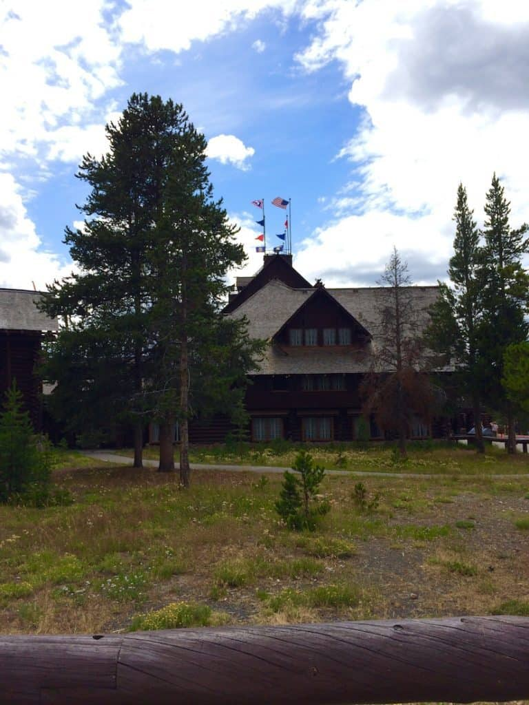Old Faithful Inn with kids.