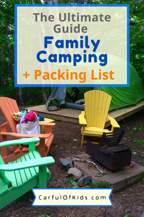 The kids want to go camping. Here's your guide to plan your first camping trip along with a packing list for glamping. #Glamping #Camping #PackingList What to Pack for a Family Camping Trip | How do you plan your first camping trip | What do you need to cook outdoors