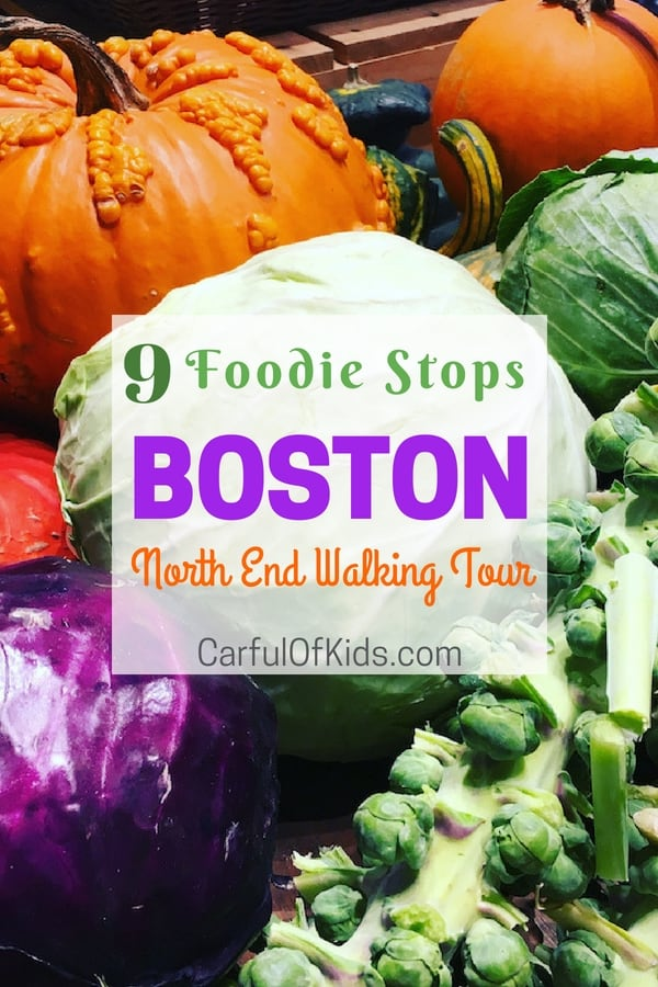 Explore Boston's North End for fabulous foodie finds, like authentic Italian bread makers and wine shops all within walking distance of Boston's top sights. #Boston #FoodieTour