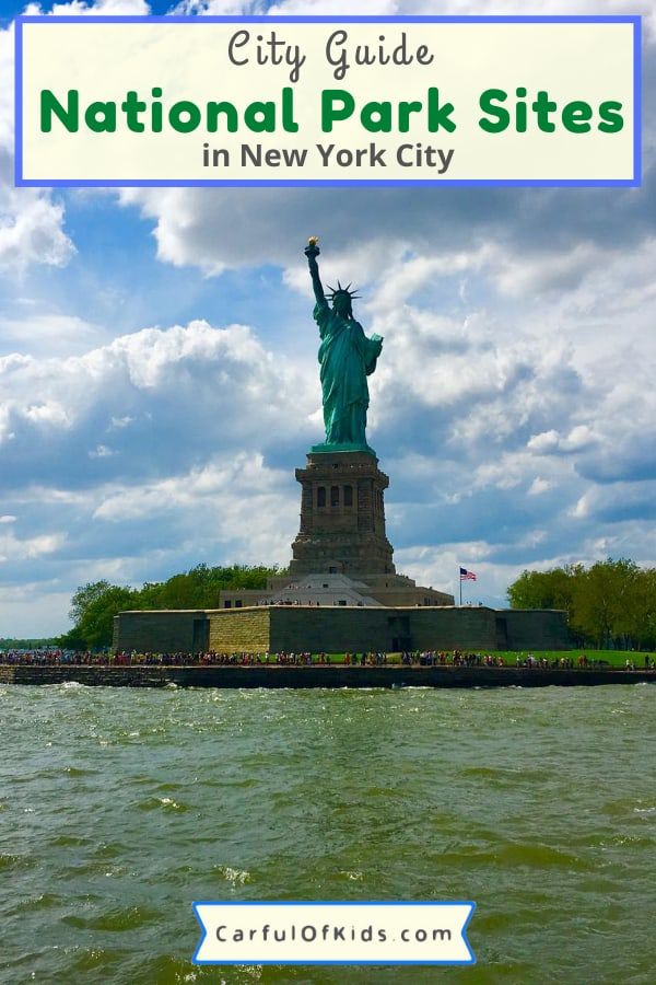 If your family is headed to New York City for your family getaway, visit the National Park Sites in NYC. Starting with the Statue of Liberty, find 10 National Park sites to visit with kids. Learn history and mix in some fun. #NationalParks #NPS #NYC #NewYorkCIty What to do in New York City with Kids | How to get tickets to the Statue of Liberty | Best Museums in NYC | Parks in New York City