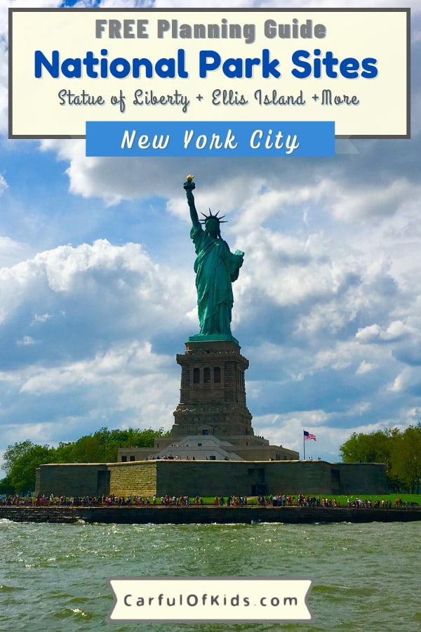 If your family is headed to New York City for a getaway, visit the National Park Sites in NYC. Starting with the Statue of Liberty, find 10 National Park sites to visit with kids. Learn about history, immigration and former presidents and mix in some fun. What to do in New York City with Kids   How to get tickets to the Statue of Liberty   Best Museums in NYC   Parks in New York City #NationalParks #NewYorkCIty