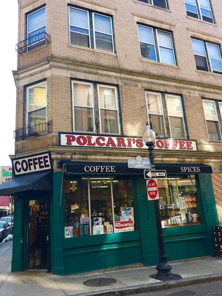Polcari Coffee. DIY Boston foodie tour.