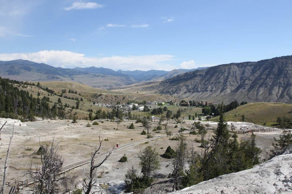 Mammoth. What to see in Yellowstone National Park with kids.