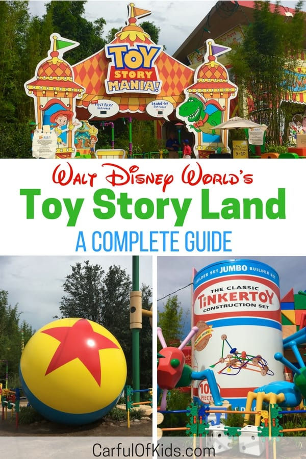 New for 2018 Hollywood Studio's Toy Story Land offers the favorite Toy Story Mania, along with a couple of new rides. Find your favorite Toy Story Characters and a new place to eat in this cute and cheerful area. #DisneyWorld #ToyStoryLand #FamilyTravel