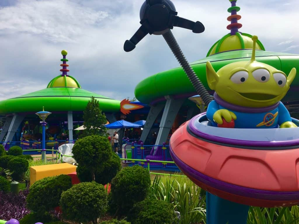 Swirling Alien Saucers. Toy Story Land.