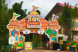 Toy Story Mania inside of Toy Story Land