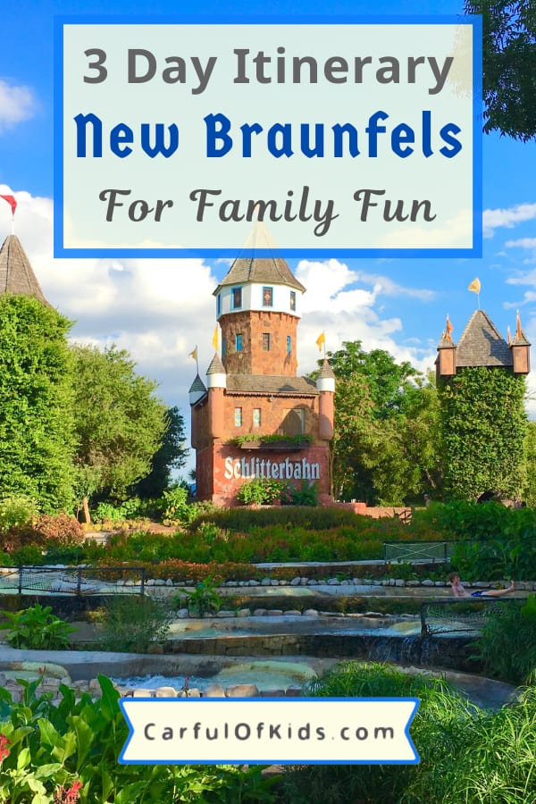 Explore a quaint German-Inspired town in-between San Antonio and Austin for a long weekend of family fun. Got all the details like where to stay, where to eat and what to do when visiting New Braunfels, Texas. #Texas #NewBraunfels Where to go in Central Texas for the weekend | 3 Day Itinerary for New Braunfels