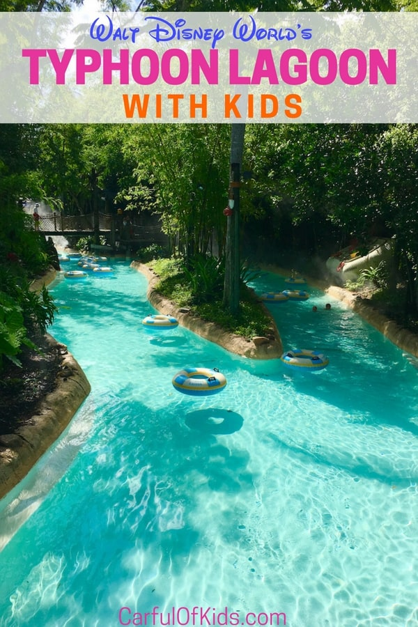 Walt Disney World features a couple of waterparks. Typhoon Lagoon tops my list with the largest surf pool in North America along with several water slides for everyone. Read on for all you need to know to add a splash day into your next Disney vacation. #WaltDisneyWorld #WaterParks #TyphoonLagoon #FamilyTravel