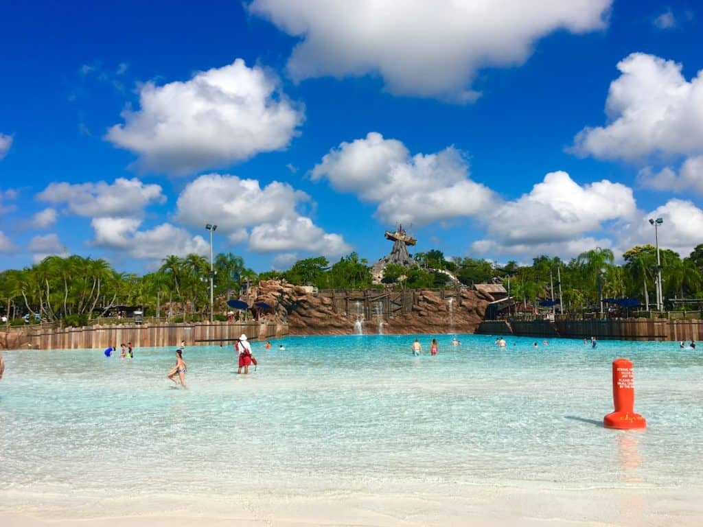 Can't miss the surf pool at Typhoon Lagoon with Kids